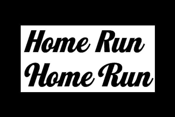 Home Run Font